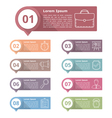 Design Elements with Numbers and Icons vector image vector image