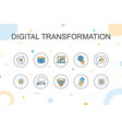 digital transformation trendy infographic template vector image vector image
