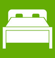 double bed icon green vector image vector image