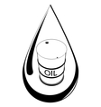Drop and barrel with oil vector image vector image