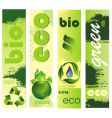 ecology banners vector image vector image
