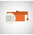 education hat graduation paper vector image