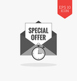 Email marketing icon Flat design gray color symbol vector image