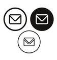 email message icon vector image