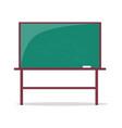 empty blackboard with piece of chalk vector image