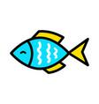 fish icon logo or logo design vector image