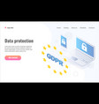 gdpr isometric concept general data vector image vector image