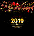 glossy new year background vector image vector image