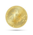 golden bitcoin coin crypto currency golden symbol vector image