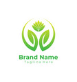 green nature logo ecology logo flat vector image