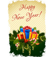 Grungy Happy New Year Greeting Card vector image vector image
