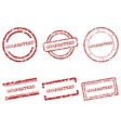 Guaranteed stamps vector image vector image