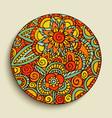 hand drawn mandala art traditional vector image vector image
