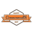 Happy Commonwealth day greeting emblem vector image vector image