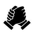 homie soul or hand clasp handshake icon vector image vector image