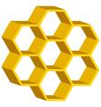 Honeycomb symbol vector image vector image
