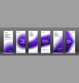 industrial roll up banners design templates set vector image