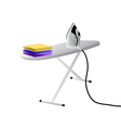 iron and ironing board vector image vector image