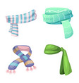 isolated object of scarf and shawl symbol set of vector image
