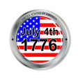 july 4 button vector image