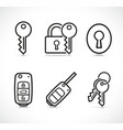 keys icons sign set vector image