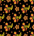 Khokhloma seamless pattern vector image