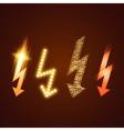 Lightning Set vector image vector image