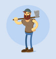 lumberjack with axe vector image vector image