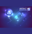 luminescent futuristic balloons background vector image