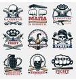 Mafia Fight Emblems In Color vector image vector image