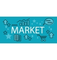 Market Business Concept Banner vector image