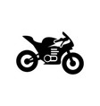 motorcycle icon design template vector image vector image
