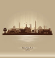 muscat oman city skyline silhouette vector image vector image