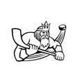poseidon with ice hockey stick and puck sports vector image vector image