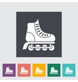 Roller skate flat icon vector image vector image