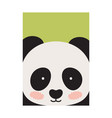 round panda s face isolated on green backdrop vector image vector image