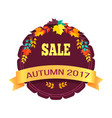 sale autumn 2017 sticker on vector image vector image