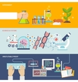 Science And Research Banner Set vector image vector image