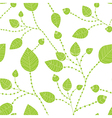 Seamless leaves pattern in green vector image vector image