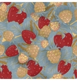 Seamless pattern of realistic image delicious ripe vector image vector image