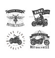 set logo motorcycle vintage vector image