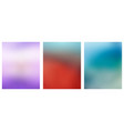 set of multicolored blurred backgrounds vector image vector image