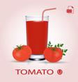 Set of tomato juice and fresh ripe tomatos