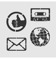 Set Symbols Stencil vector image vector image