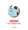 soccer ball with a protection mask