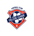 soccer football emblem design element for logo vector image vector image