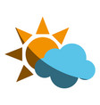 sun and cloud icon image vector image