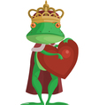 The Frog Prince with an heart vector image