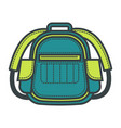 travel backpack or flat school bag vector image