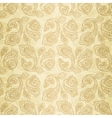Turkish cucumber seamless pattern gold style vector image